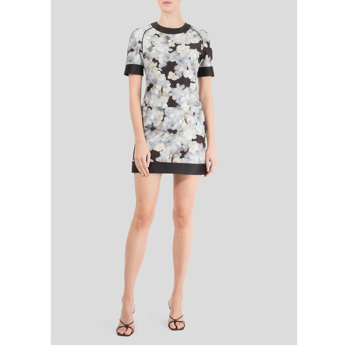 Victoria Beckham Short Sleeved Floral Mini Dress