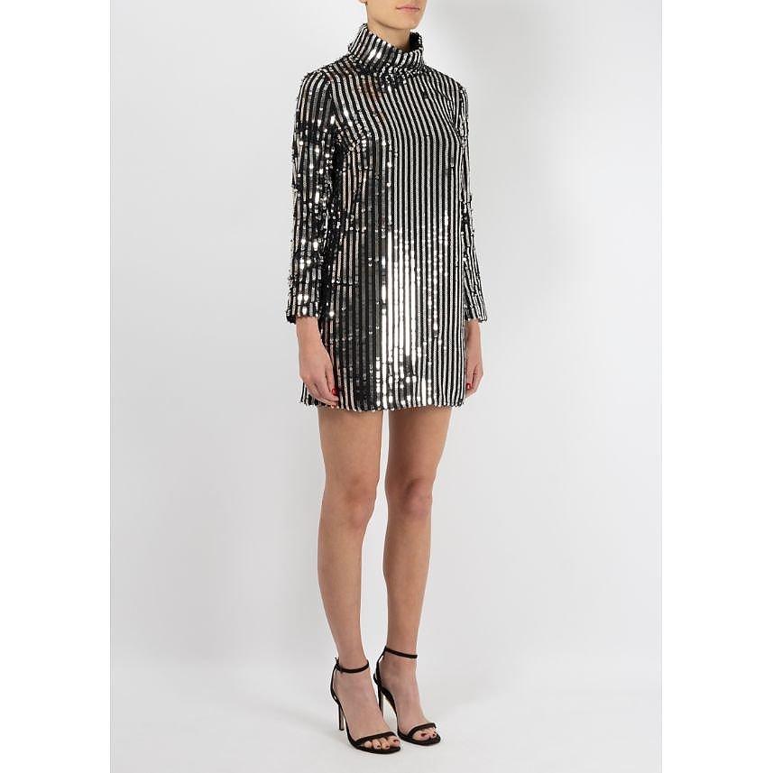 Rixo Bardot Sequin Mini Dress