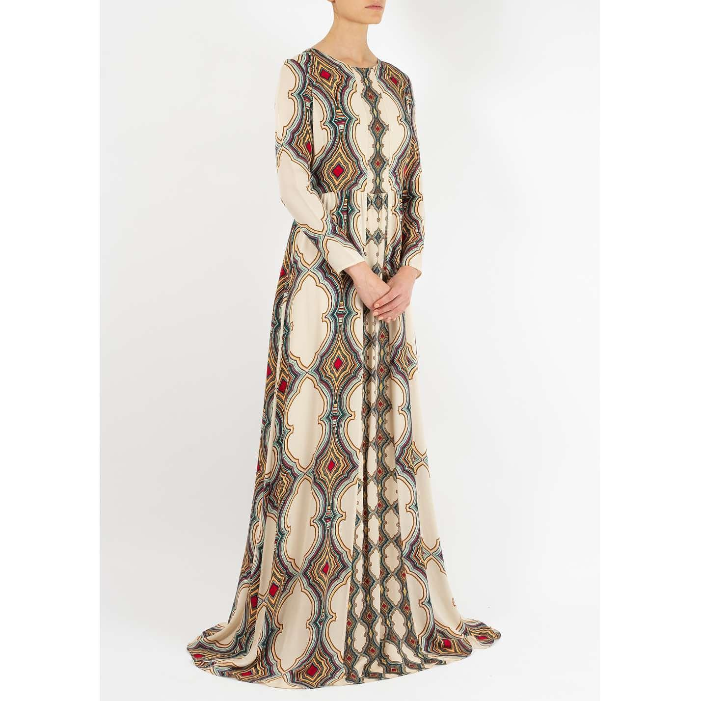 Dhela Printed Silk Gown