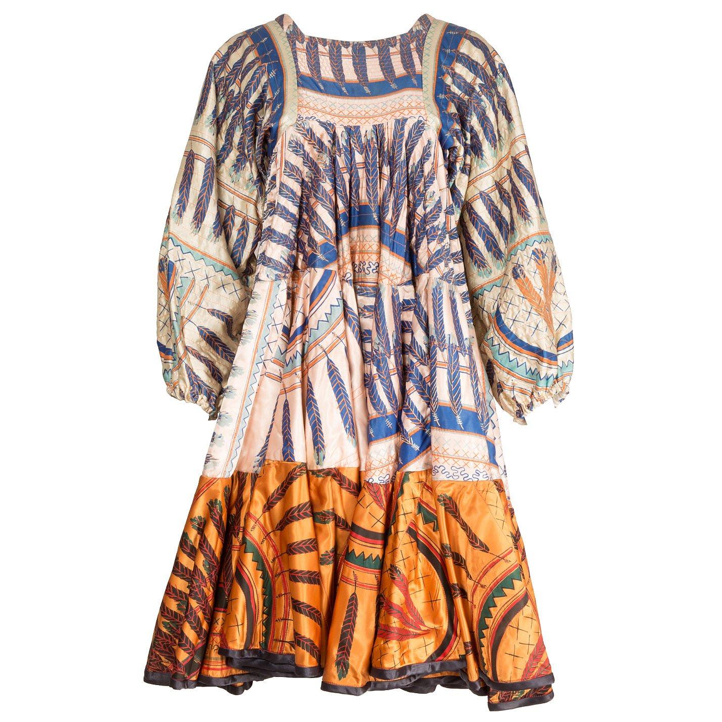 Zandra Rhodes Couture Contrast-Print Dress