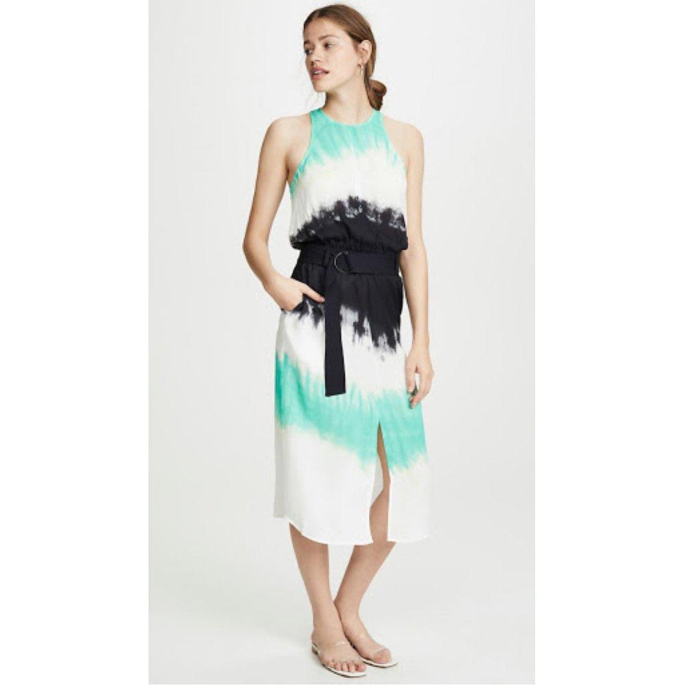 A.L.C. Tallulah Belted Tie-Dye Midi Dress