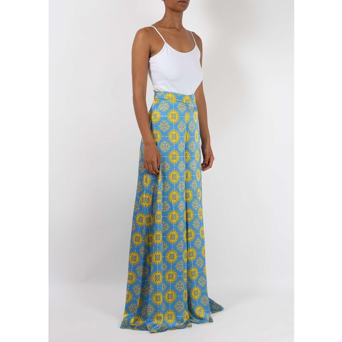 Seren Patterned Silk Trousers