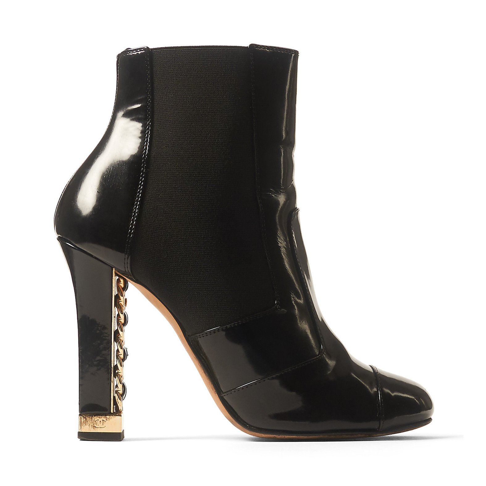 CHANEL Patent High Heel Boots