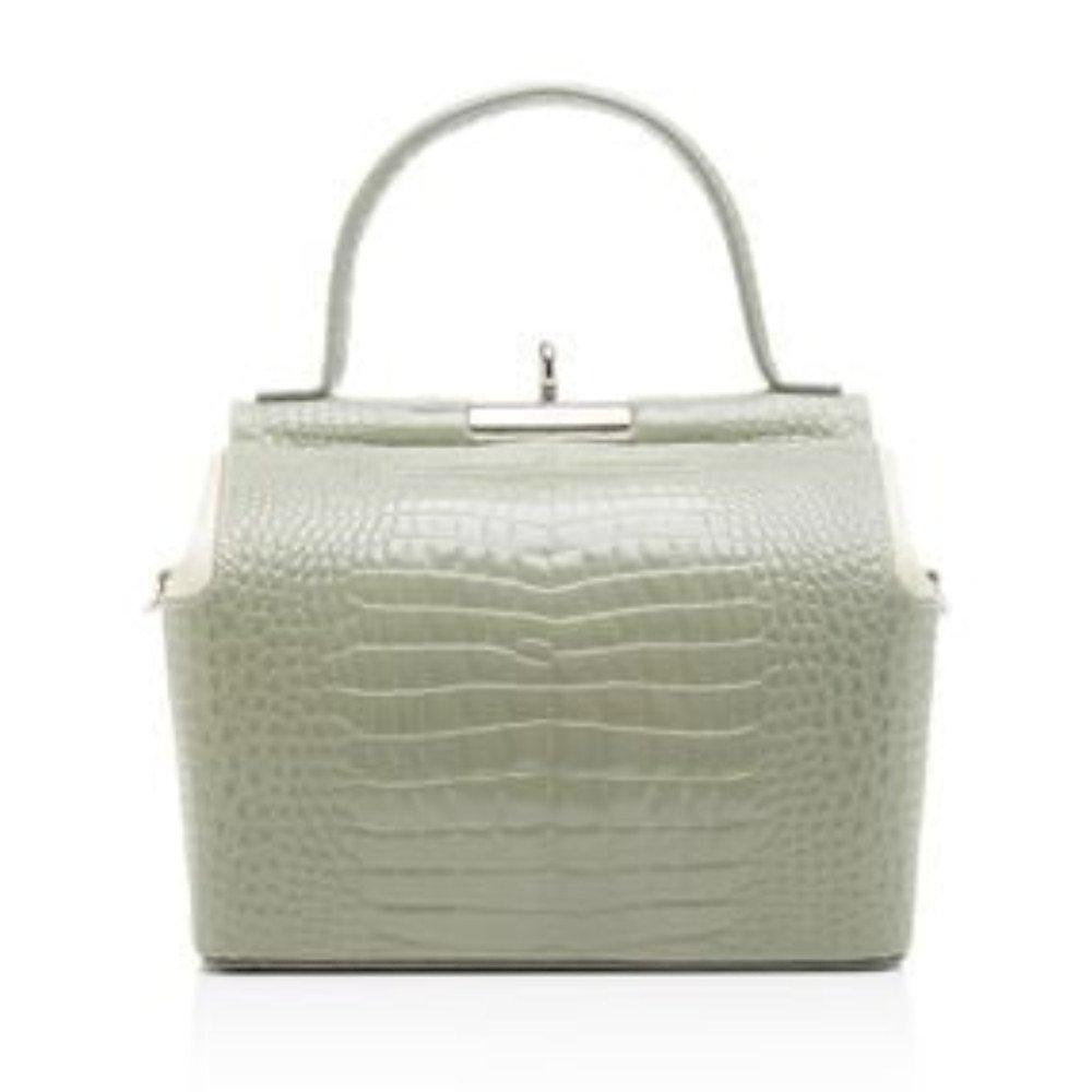 gu_de Croc Embossed Bag