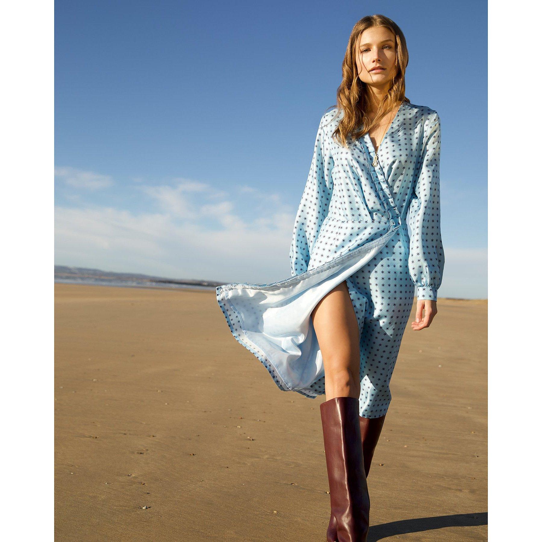 Lisou Rachel Comet Print Wrap Dress