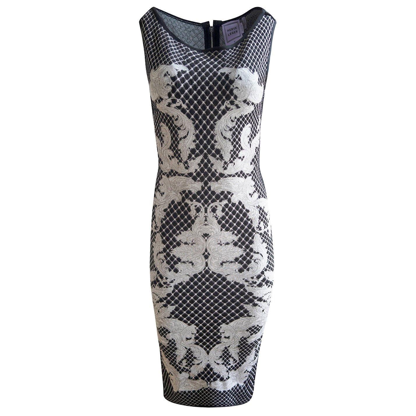 Herve Leger Patterned Knit Dress