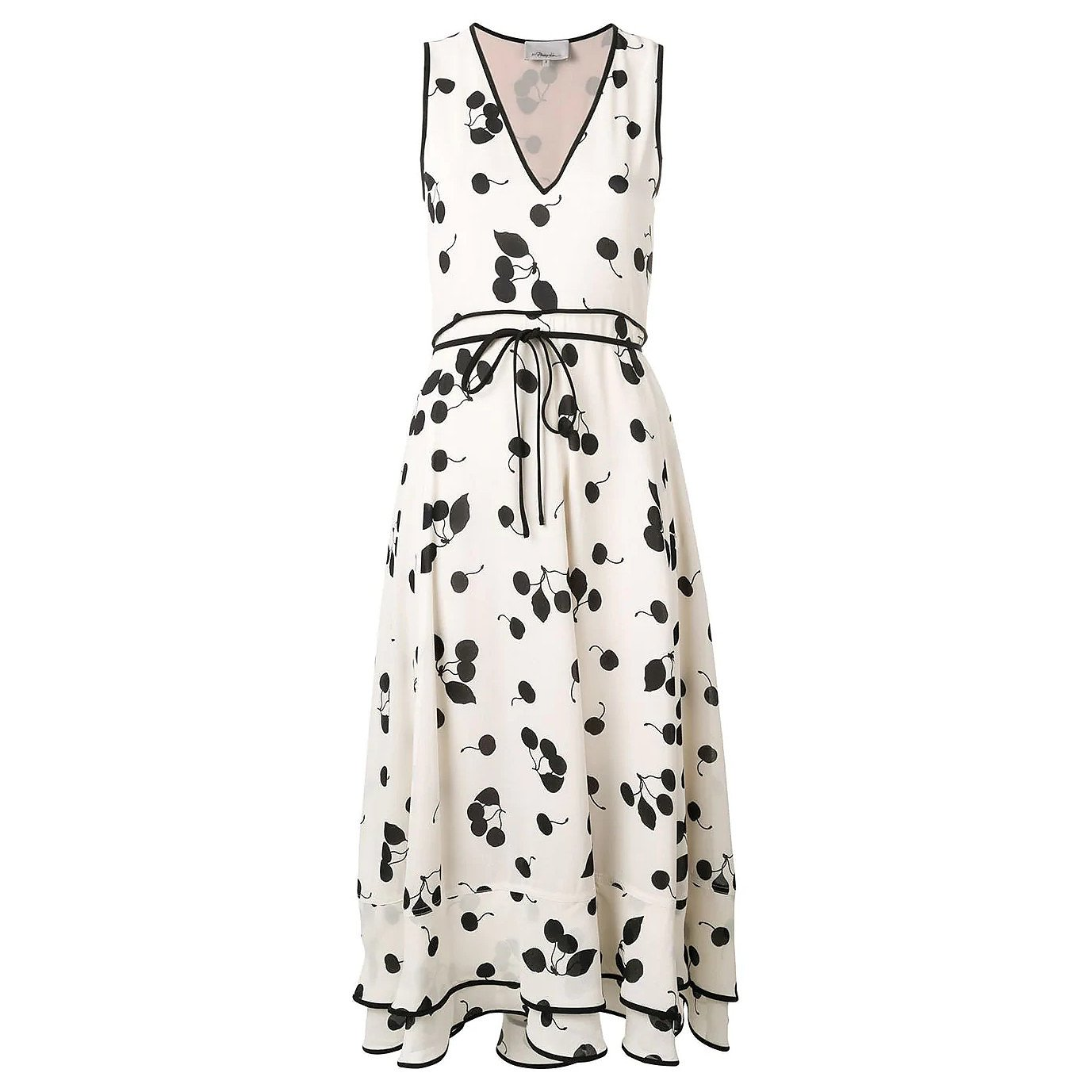 3.1 Phillip Lim Cerise Print Midi Dress