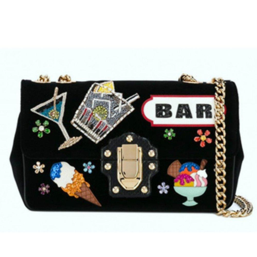 DOLCE & GABBANA Bar Patch Bag