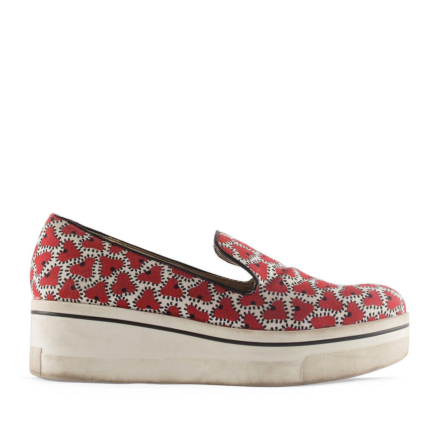 Stella McCartney Platform Print Loafers