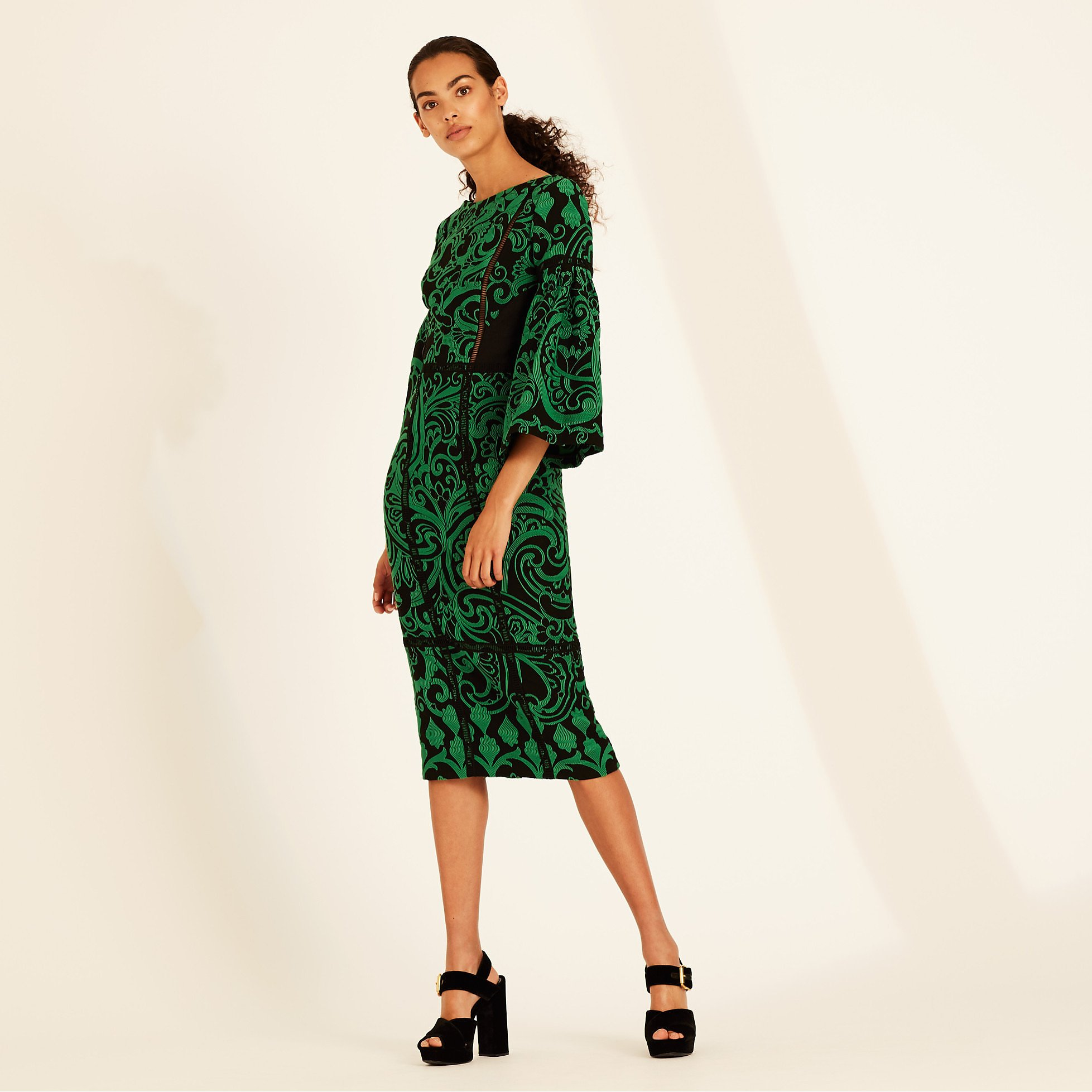 Amanda Wakeley Paisley Jacquard Dress