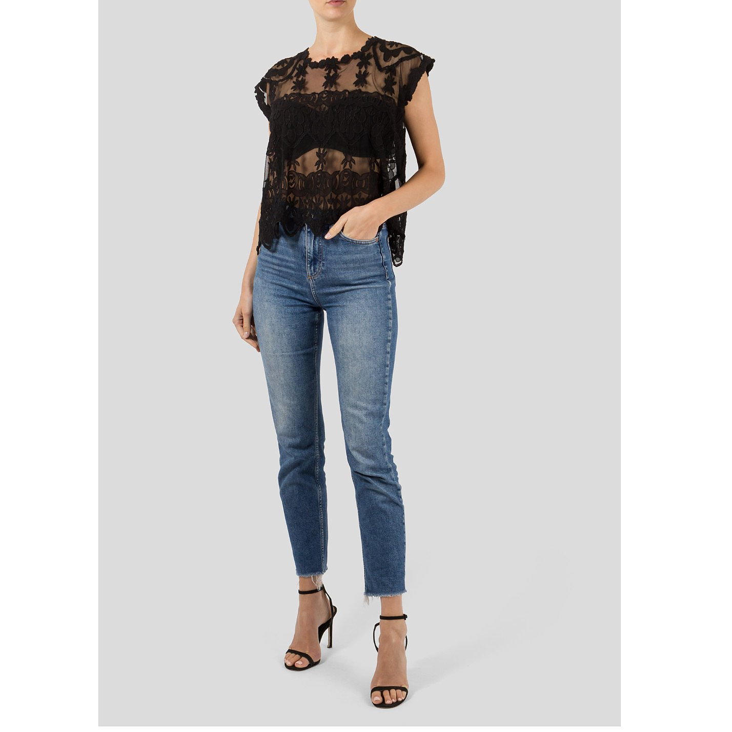 Zadig & Voltaire Lace Embroidered Top