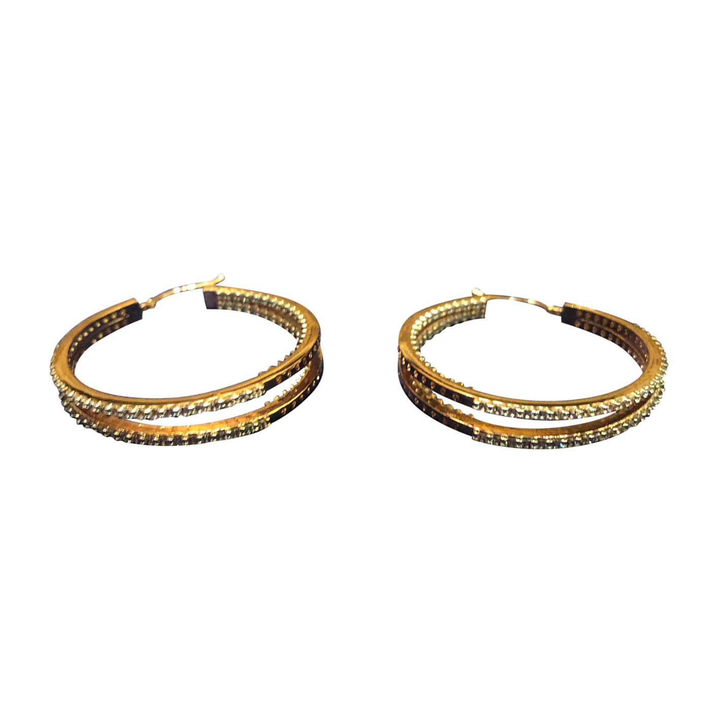 Other Rose Gold-Plated Crystal Hoops