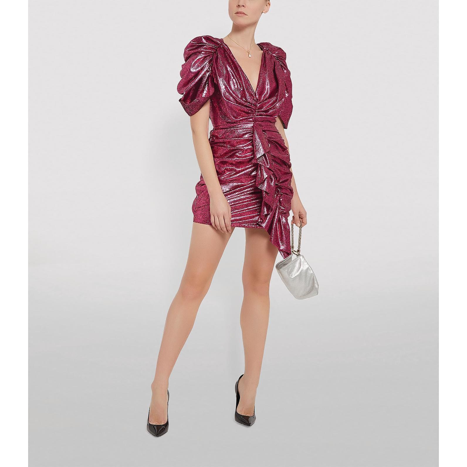 Halpern Draped Mini Dress