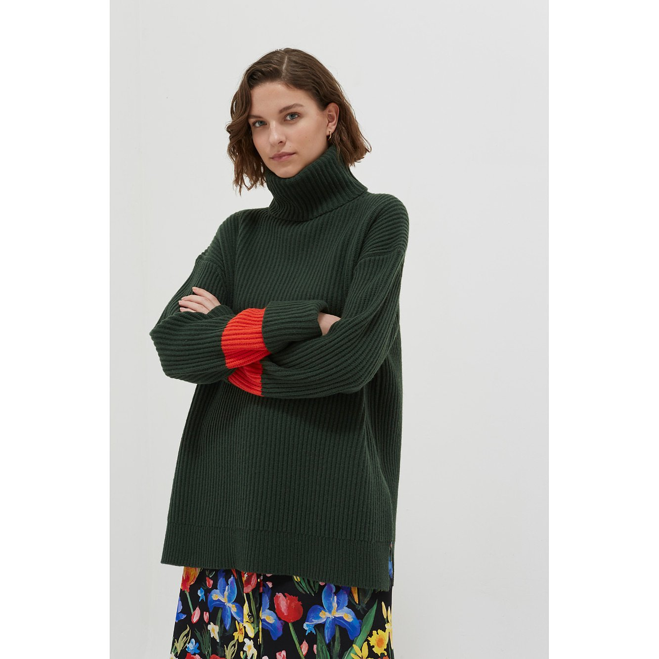 Chinti and Parker Rib Merino Wool Rollneck Sweater