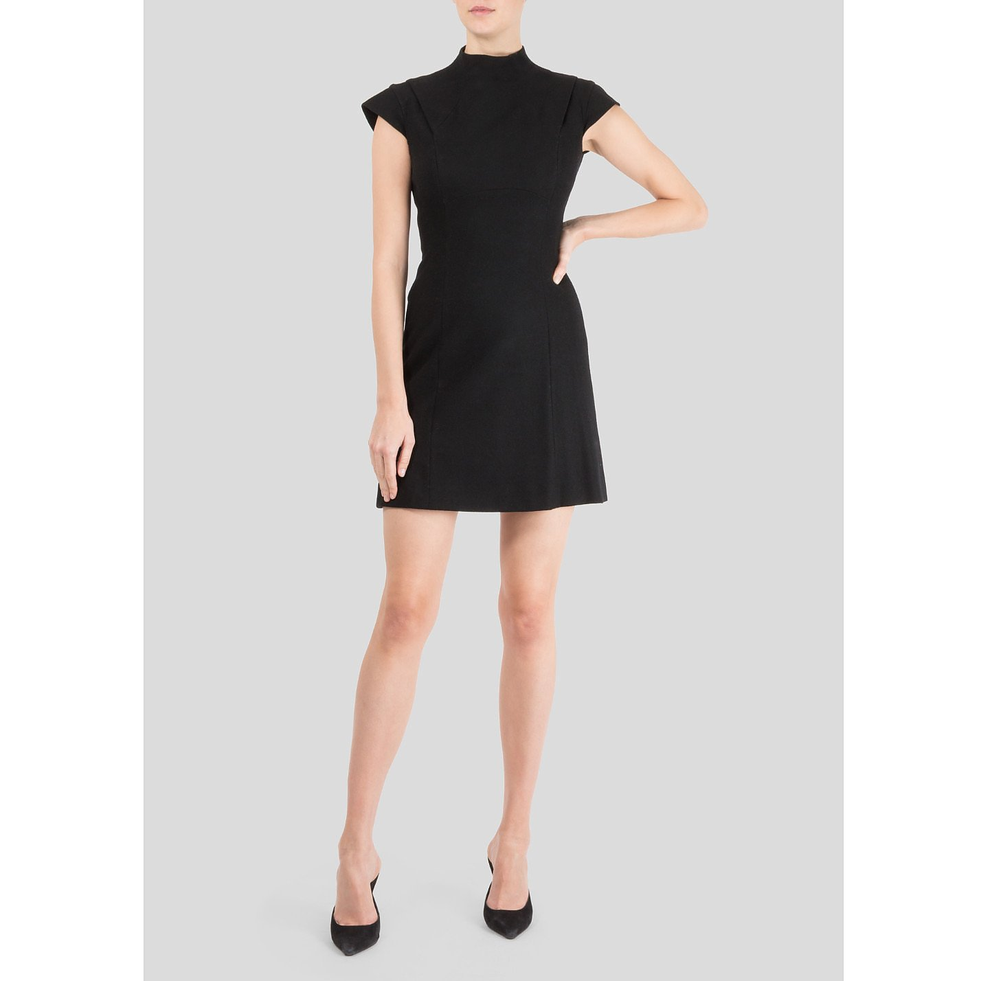 Victoria Beckham High Neck Wool Mini Dress