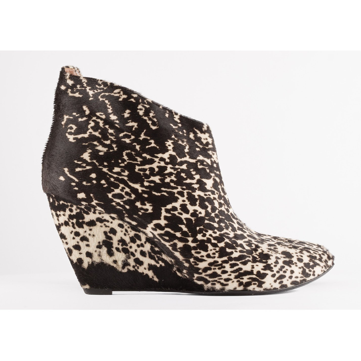 Sigerson Morrison Spotted Calf Hair Wedge Ankle Boots
