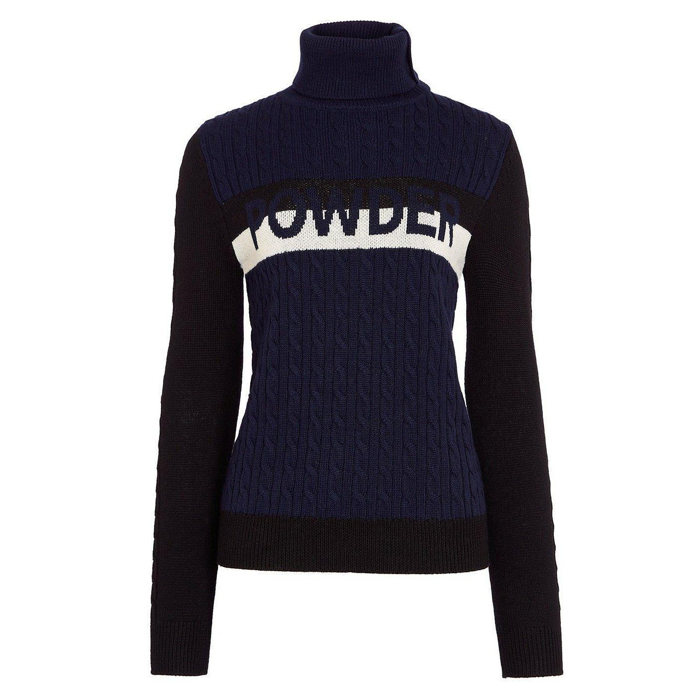 Perfect Moment Super Stripes Powder Turtle-Neck Sweater