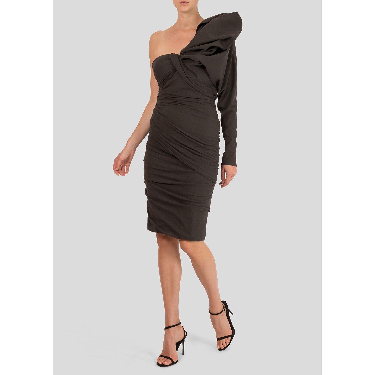 Lanvin Structured One-Shoulder Dress