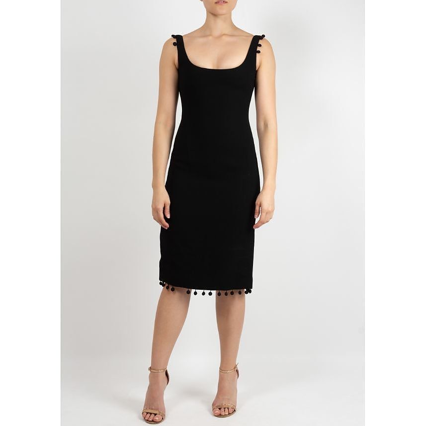 PRADA Sleeveless Dress with Pompoms