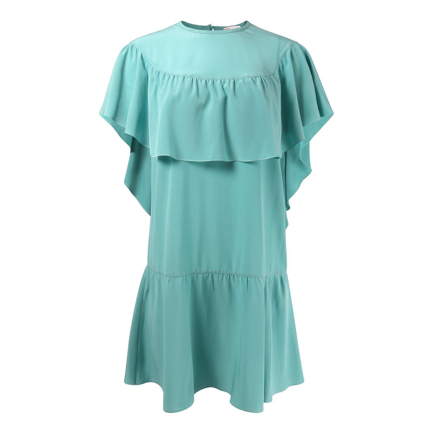 REDValentino Mini Silk Ruffle Dress