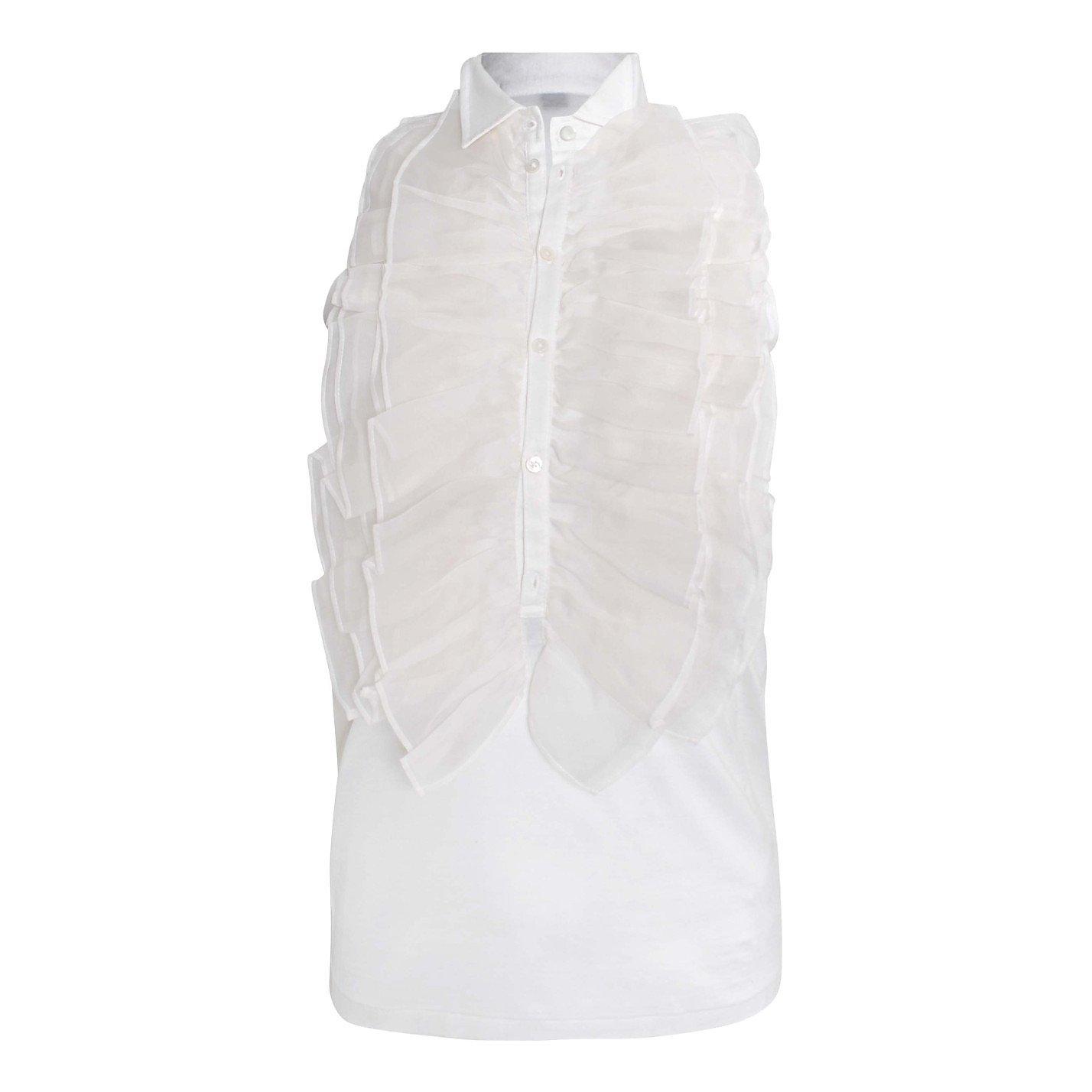 Ralph Lauren Sleeveless Ruffle Shirt