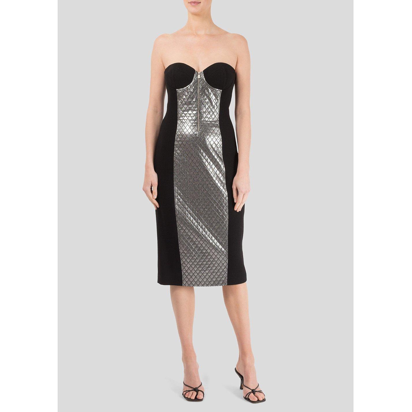 Michael Kors Dress With A Metallic Front Panel