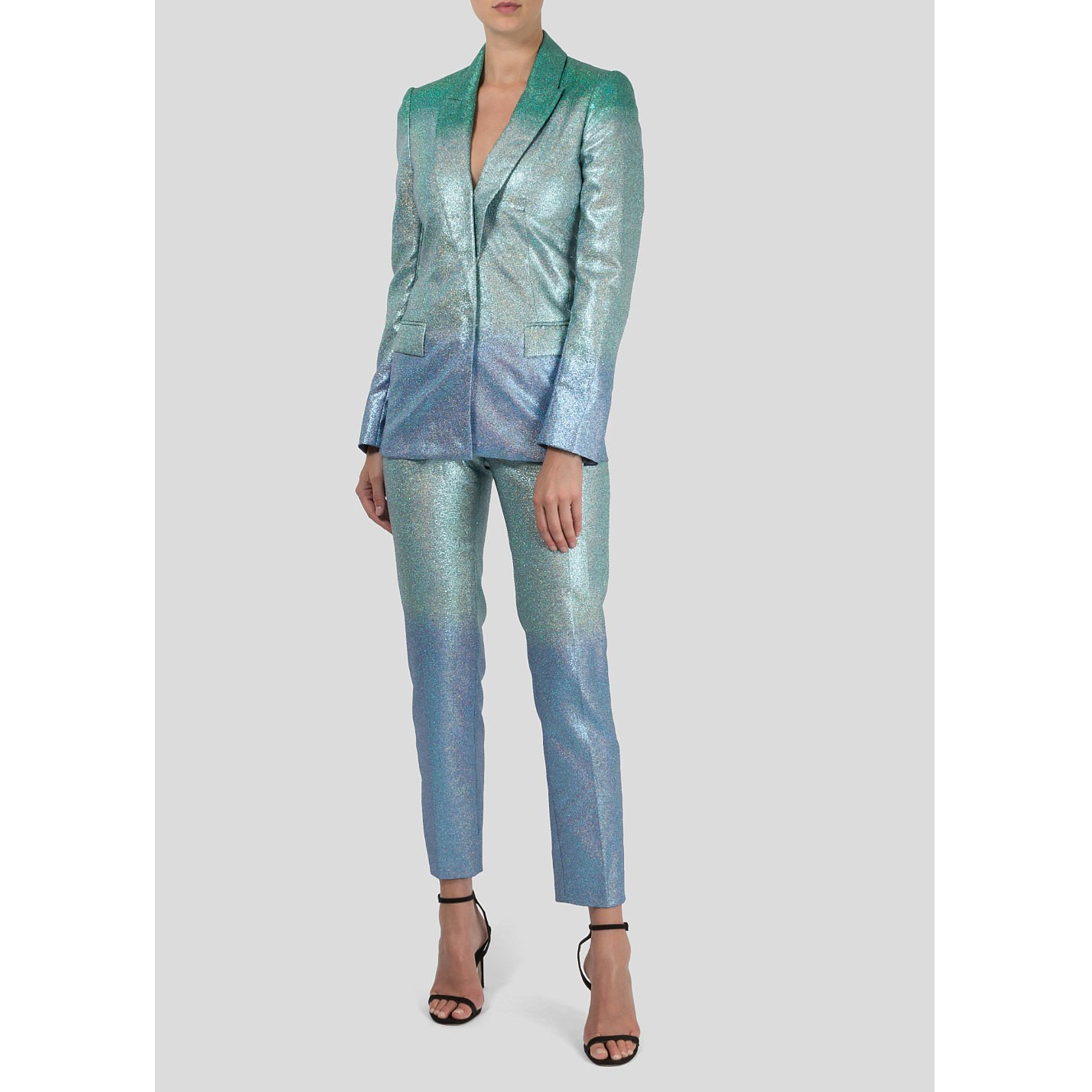 Zoe Jordan Ombre Glitter Blazer and Trouser Set