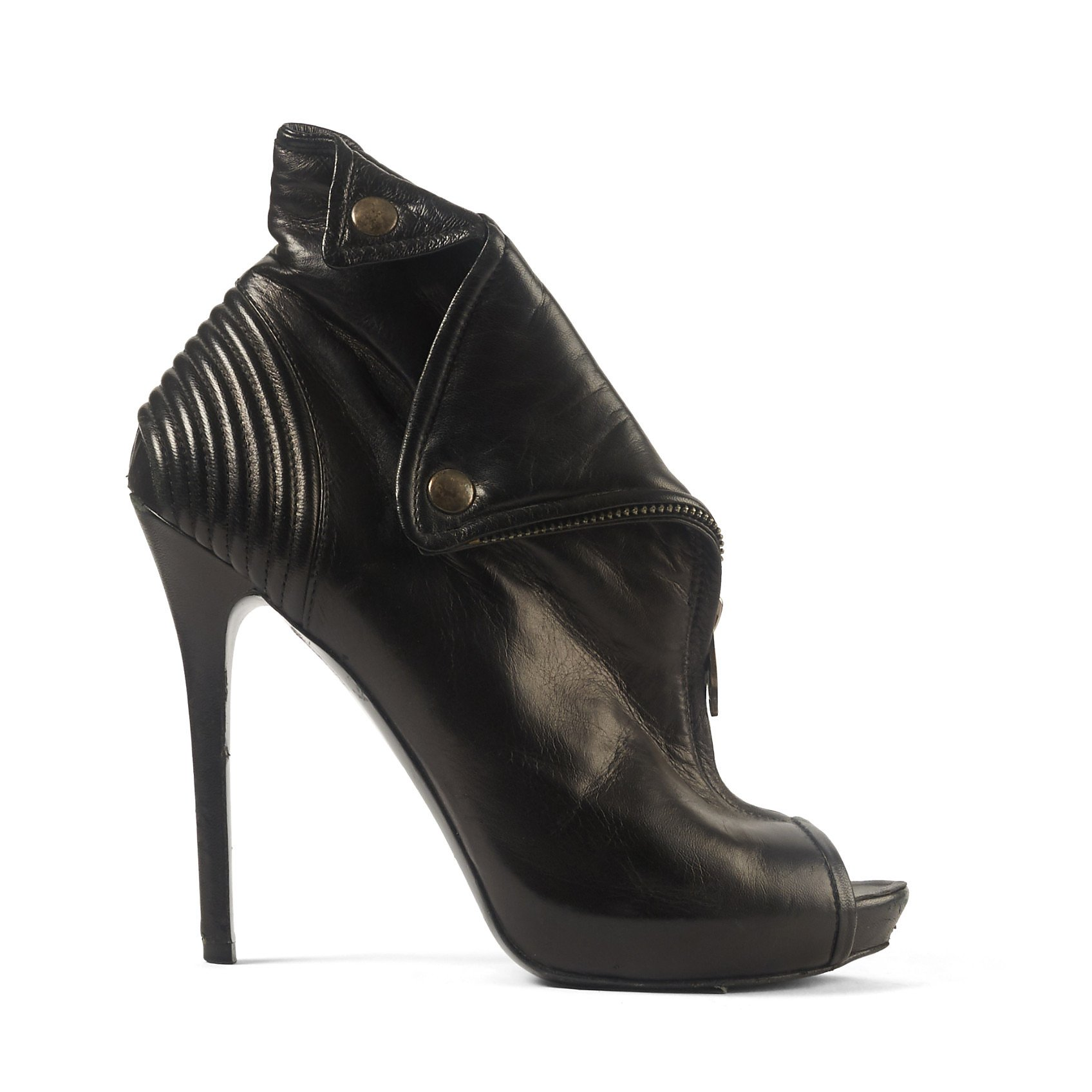 Alexander McQueen Peep Toe Ankle Boots