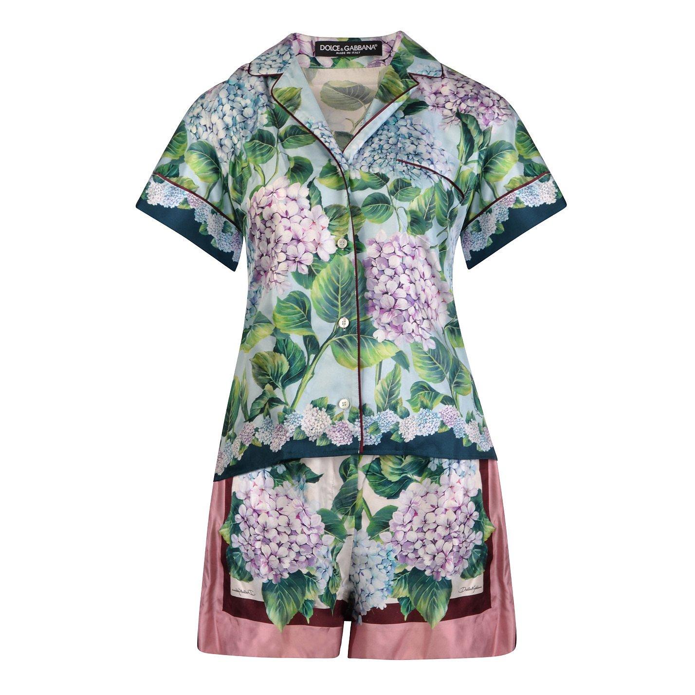 DOLCE & GABBANA Hydrangea Print Loungewear Set