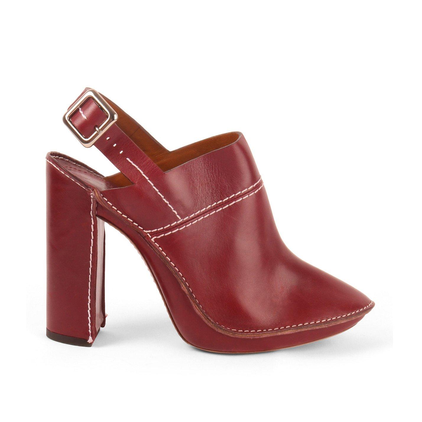Chloé Gabrielle Leather Slingback Mules