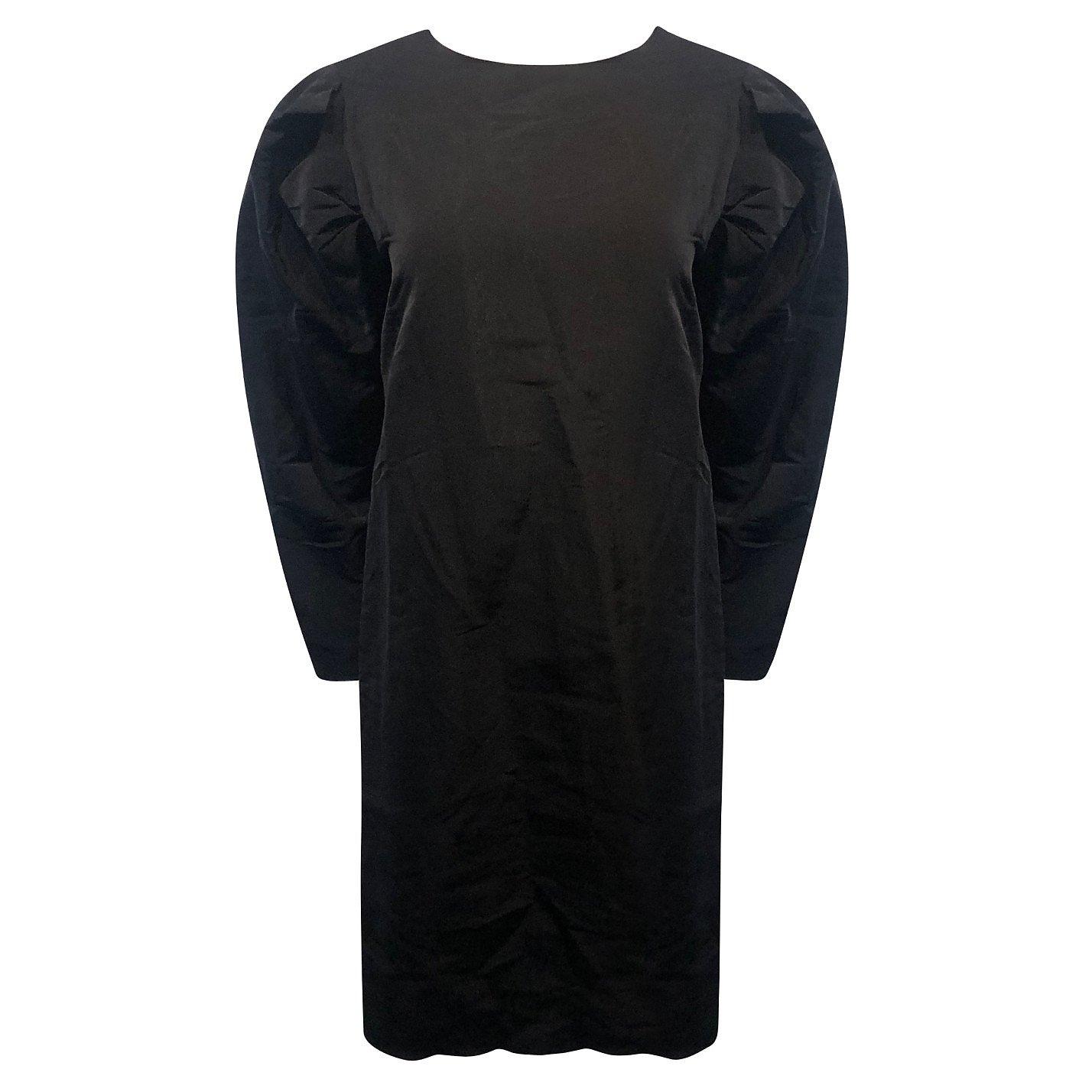 Rosetta Getty Puff-Sleeve Silk Dress