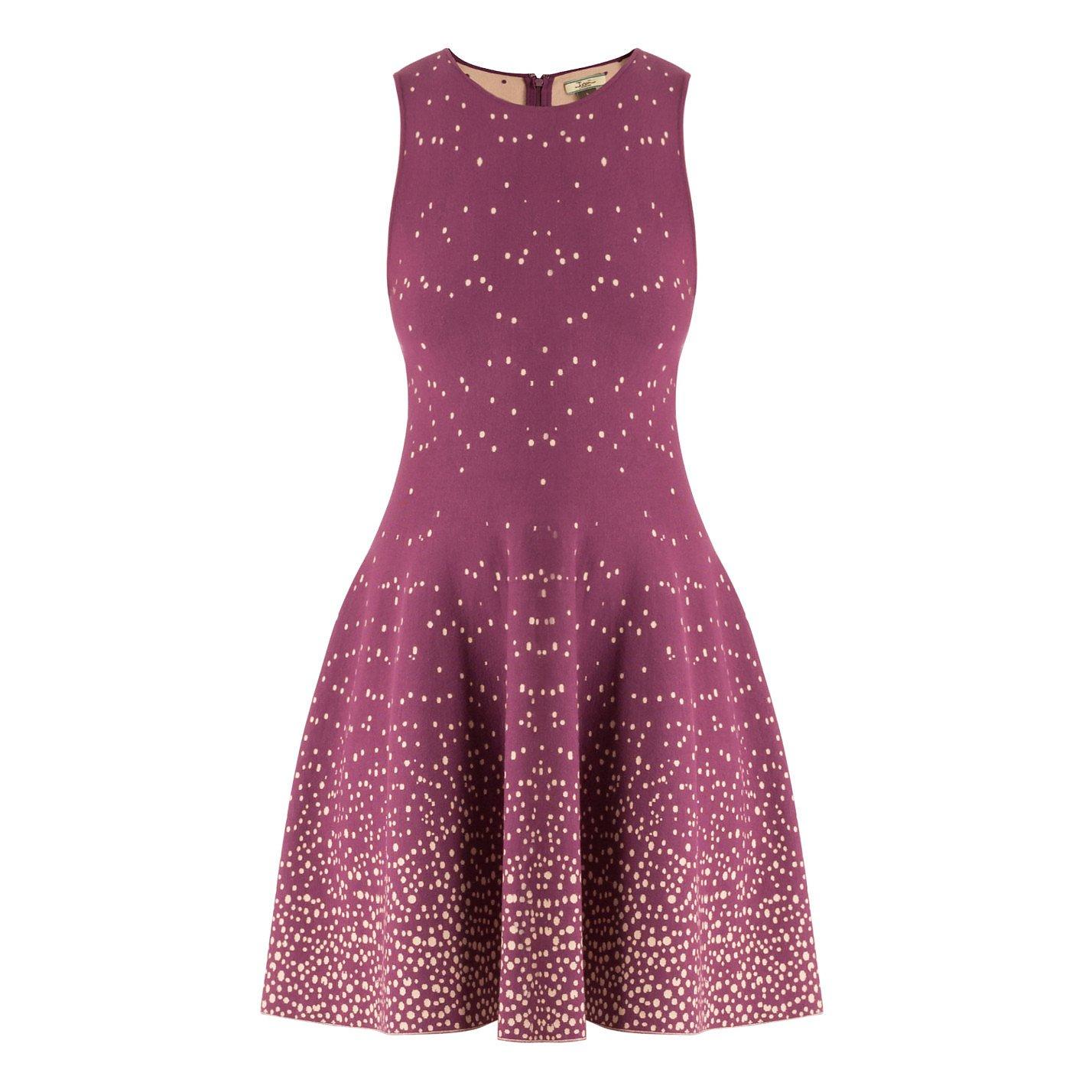 ISSA Dotted Knit Dress