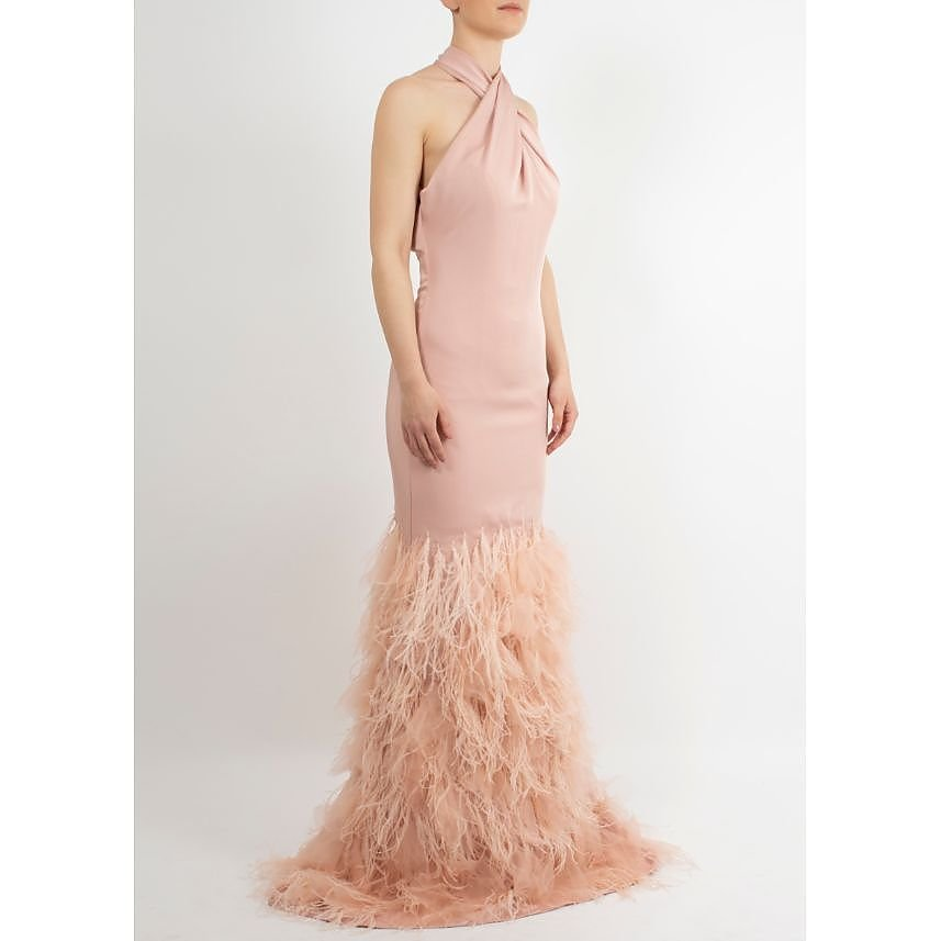 Terani Feathered Gown