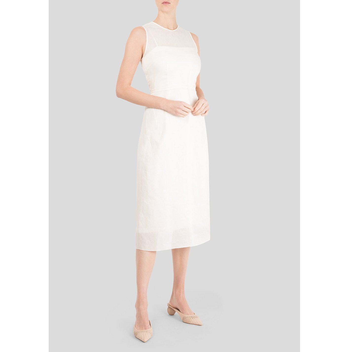 Morgane Le Fay Apron Style Silk Dress