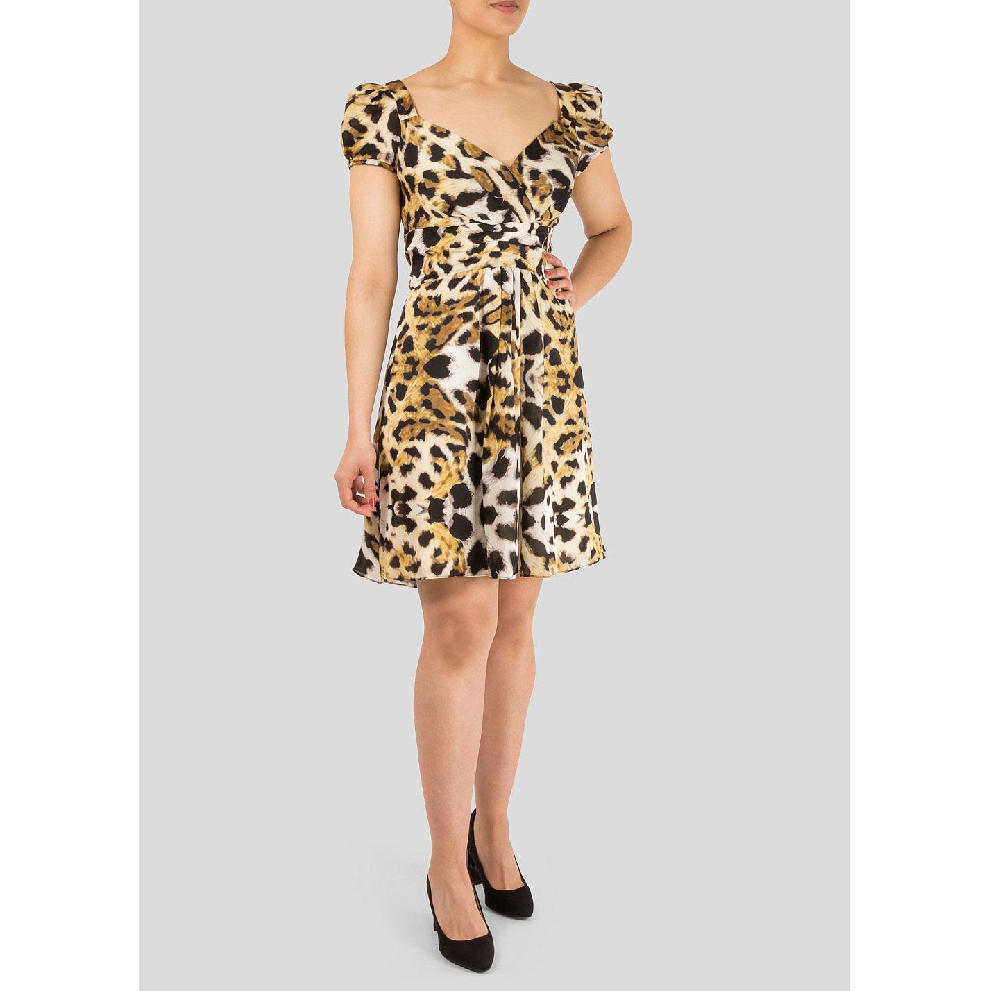 Betsey Johnson Leopard Print Silk Mini Dress