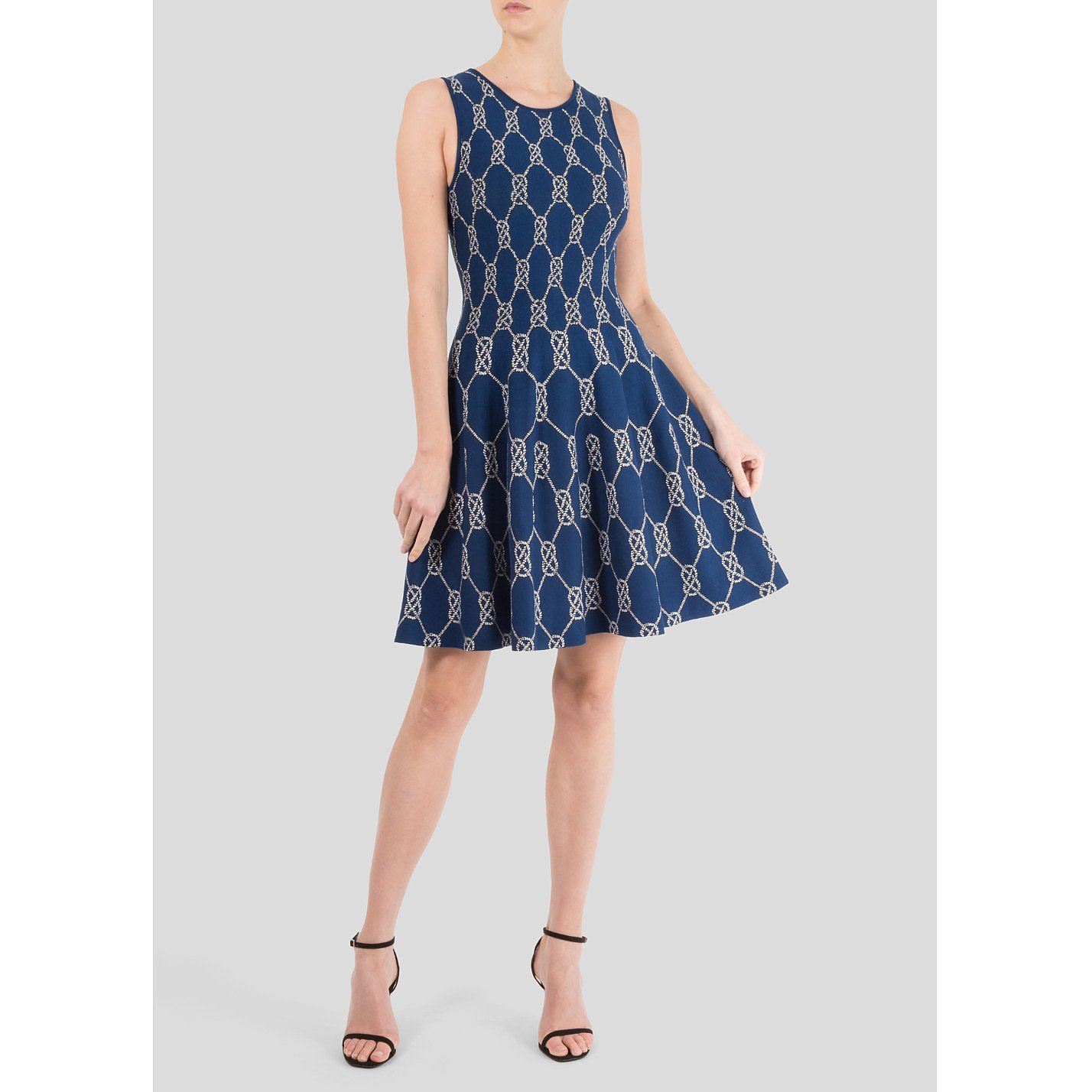 ISSA Chain Link Knit Dress