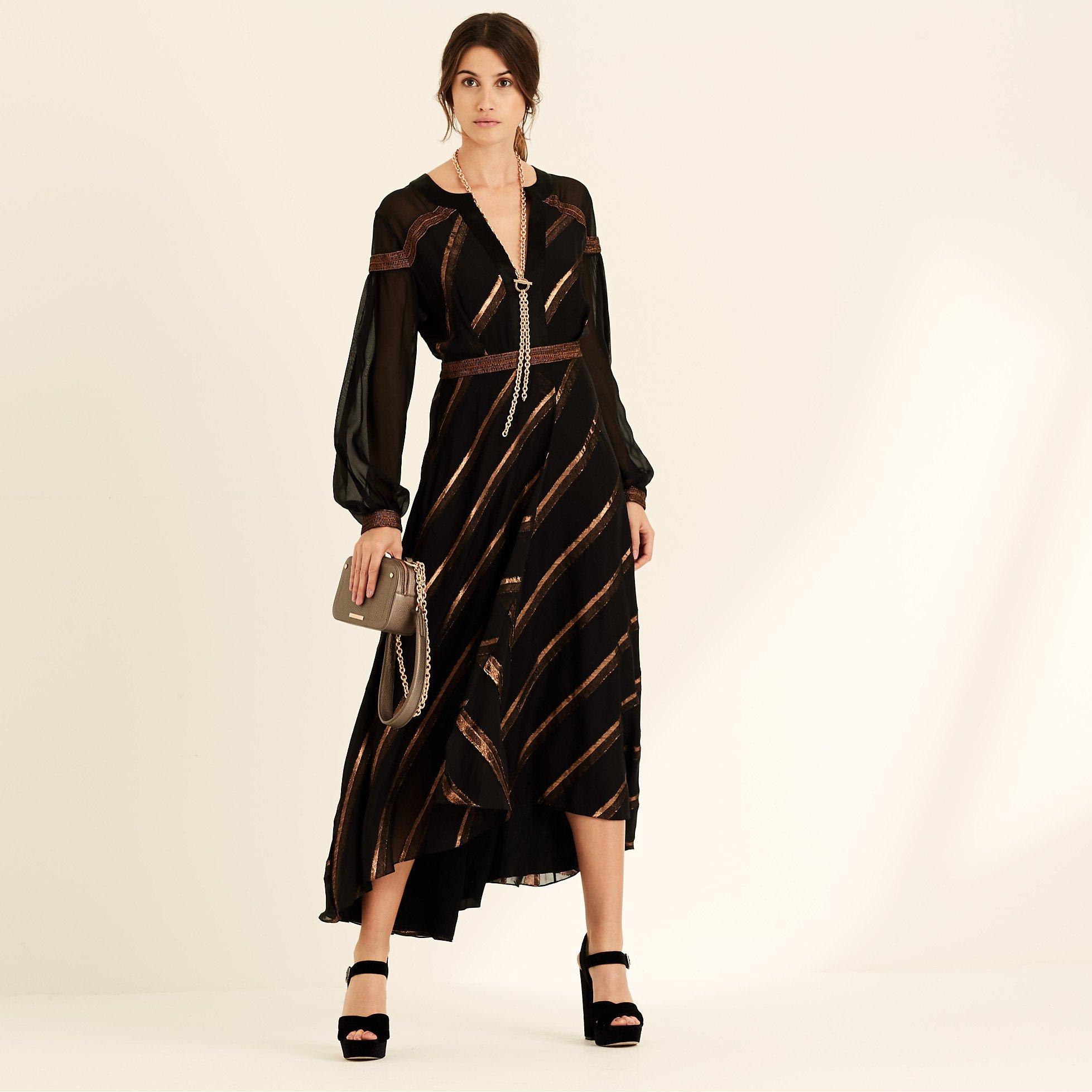 Amanda Wakeley Metallic Midi Dress