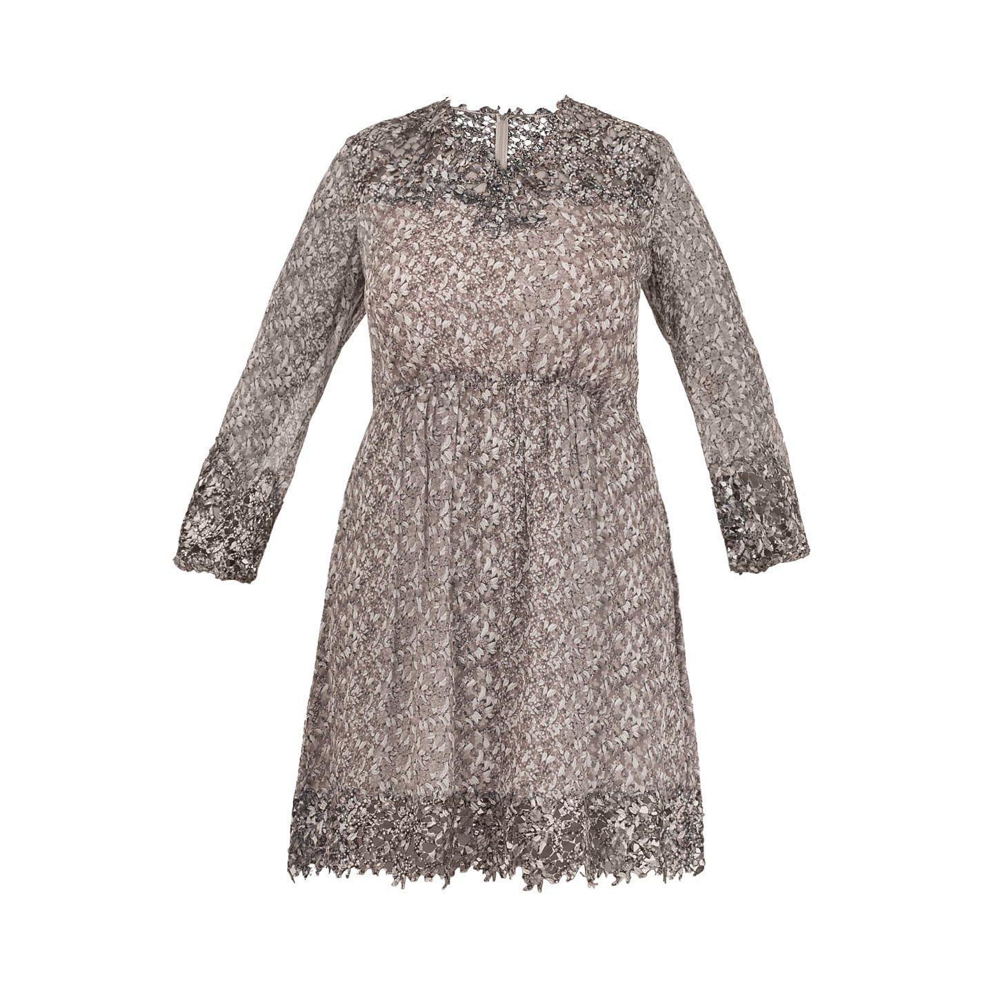 Elie Tahari Floral Print Long Sleeve Dress