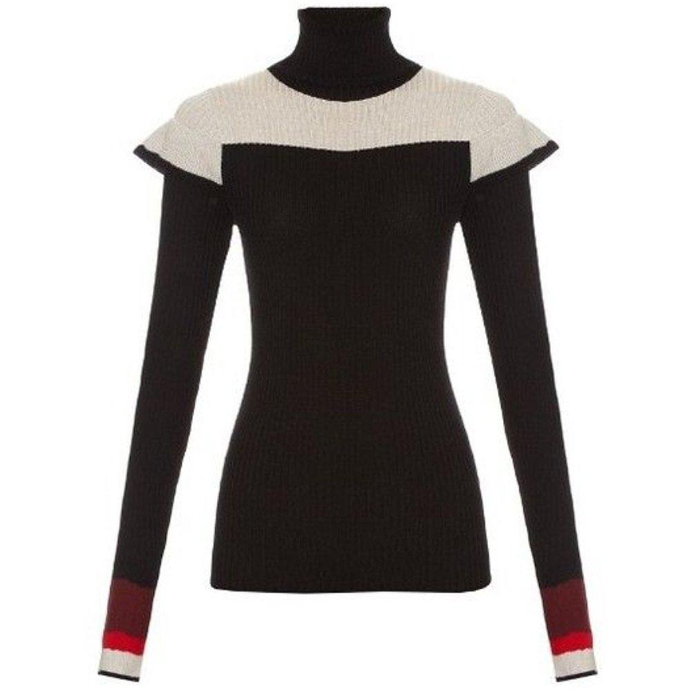 Preen Line Block-Colour Roll-Neck Sweater