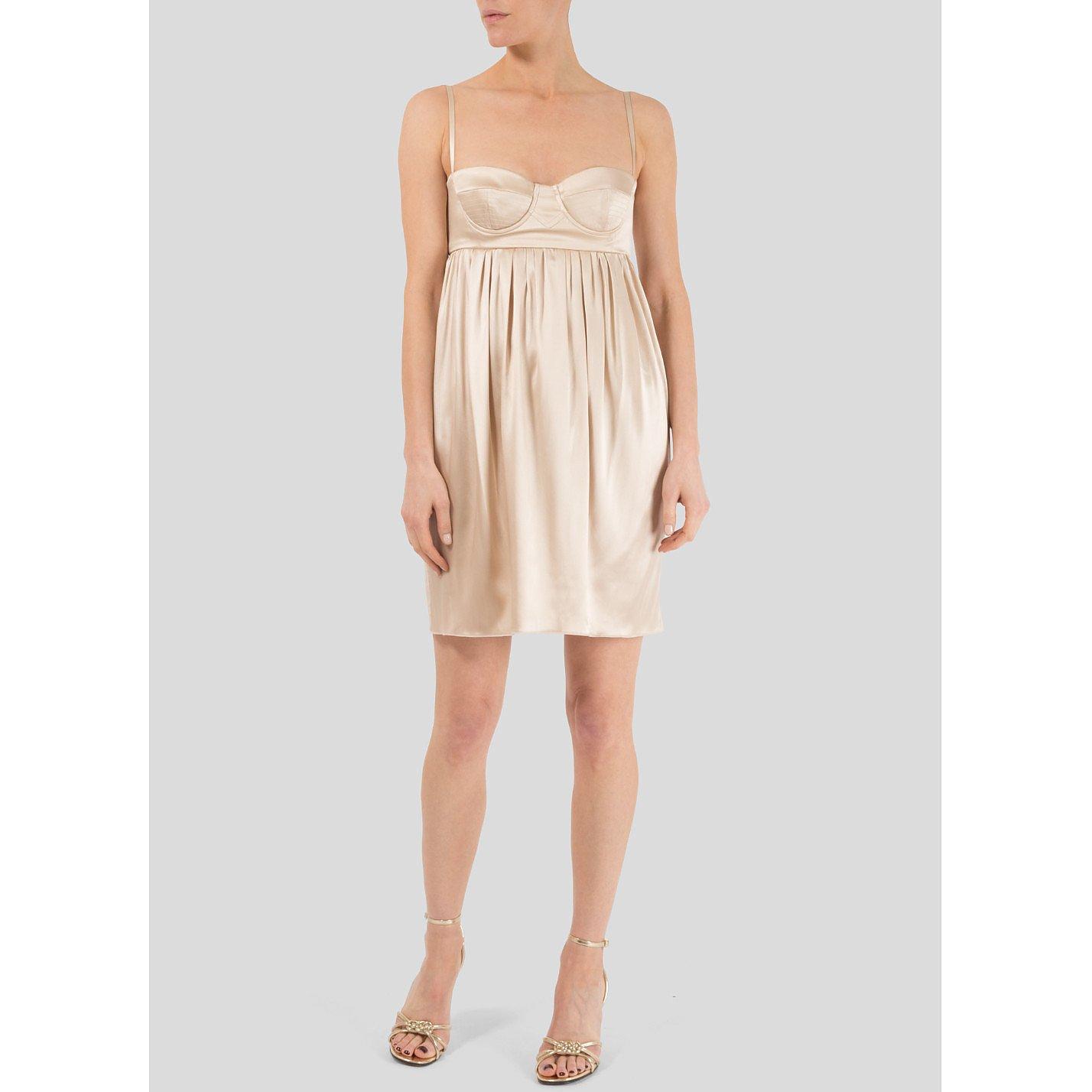 DOLCE & GABBANA Satin Bustier Mini Dress