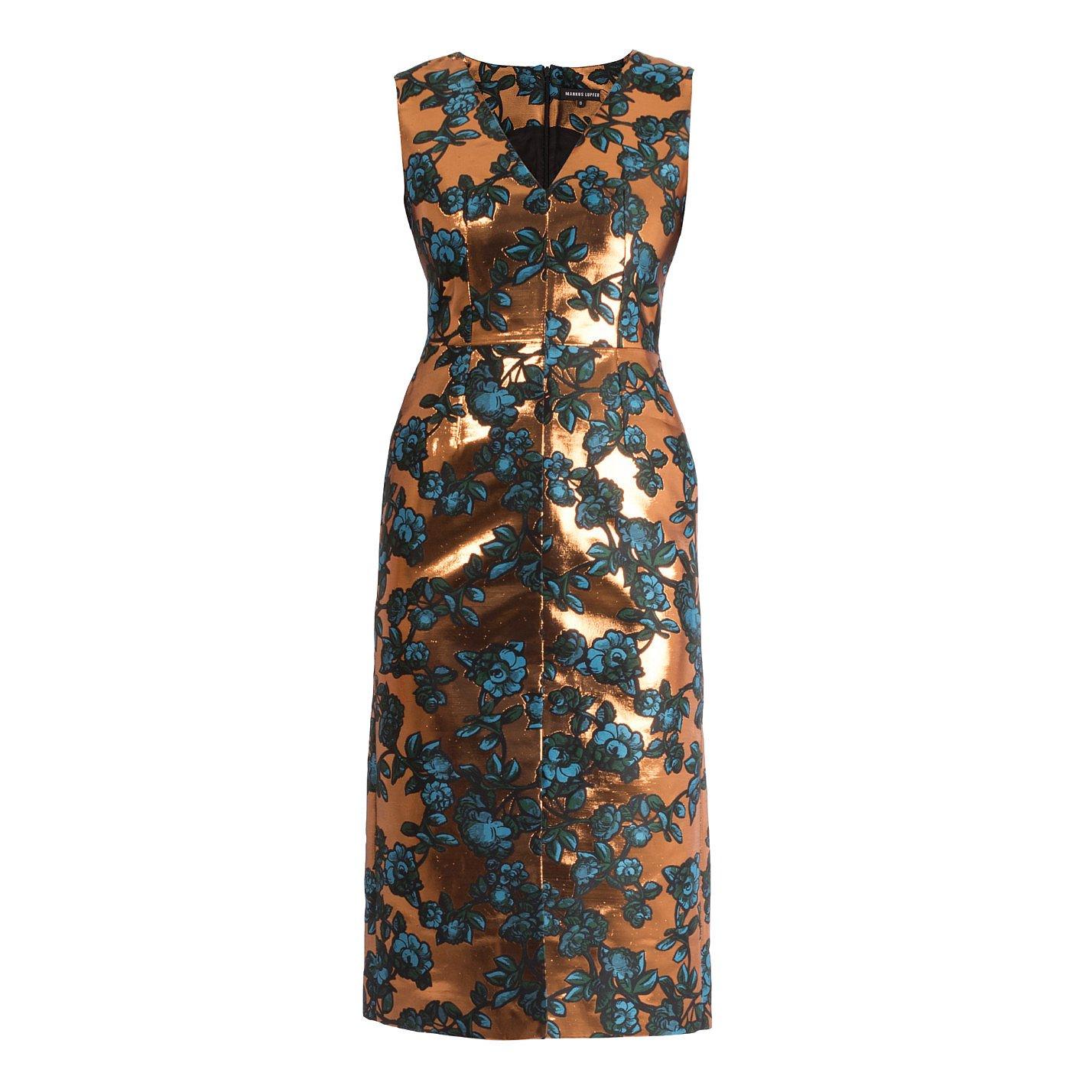 Markus Lupfer Charlie Painted Floral Lurex Dress