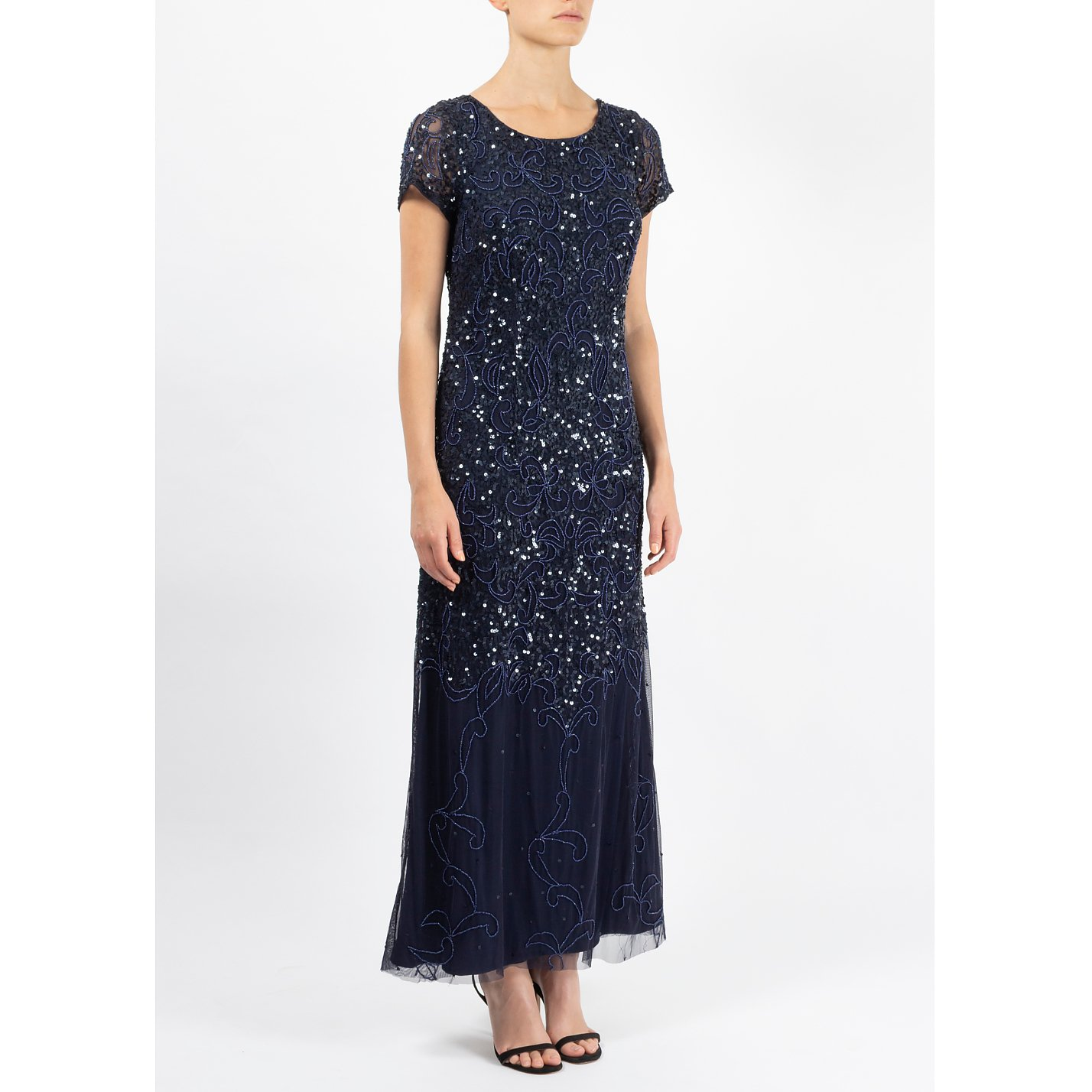 Adrianna Papell Backless Sequinned Gown