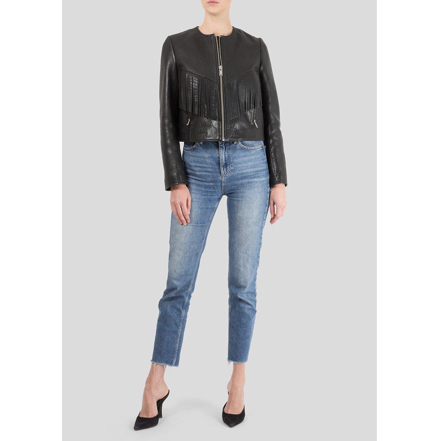 Isabel Marant Kirk Embroidered Leather Jacket