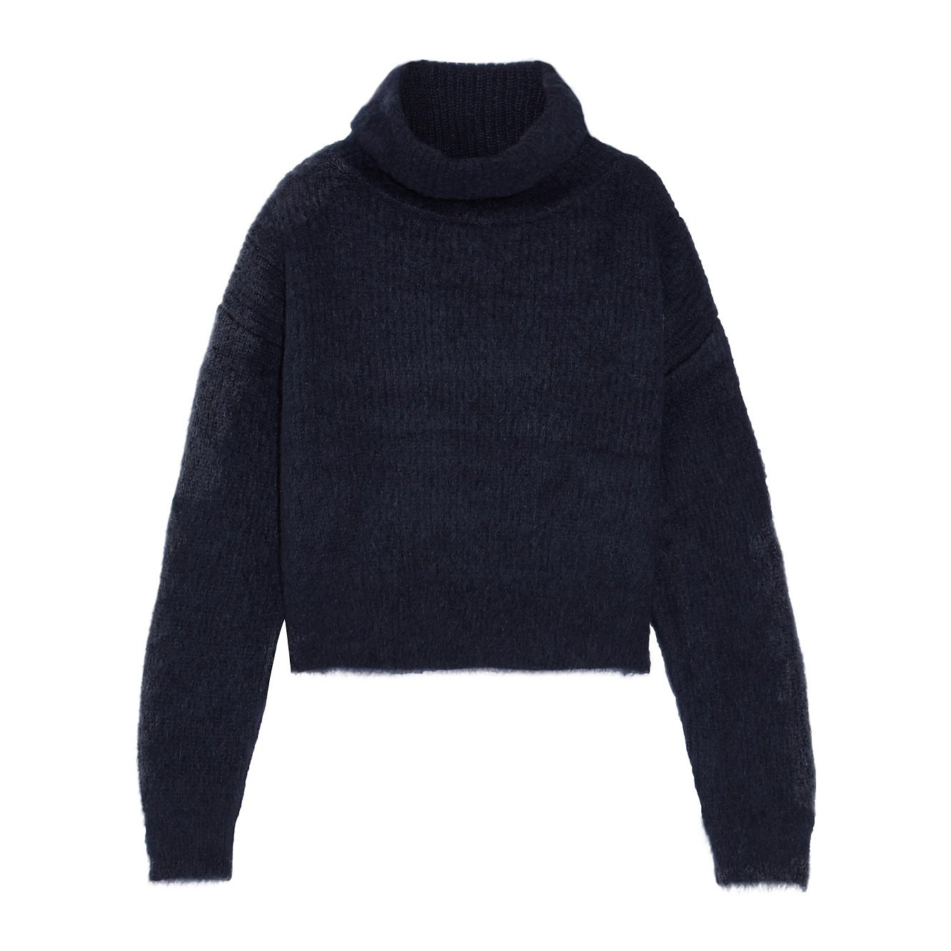 Carven Cropped Turtle Neck Sweater