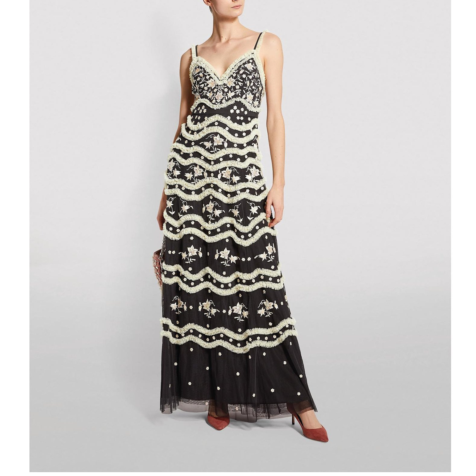 Needle & Thread Ruffle Bloom Camisole Gown