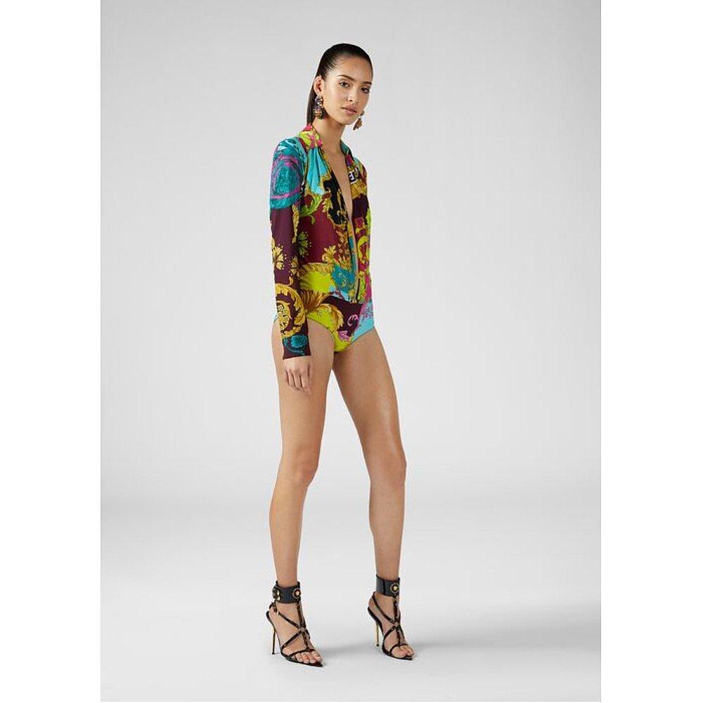 Versace Multicolour Voyage Barocco Bodysuit
