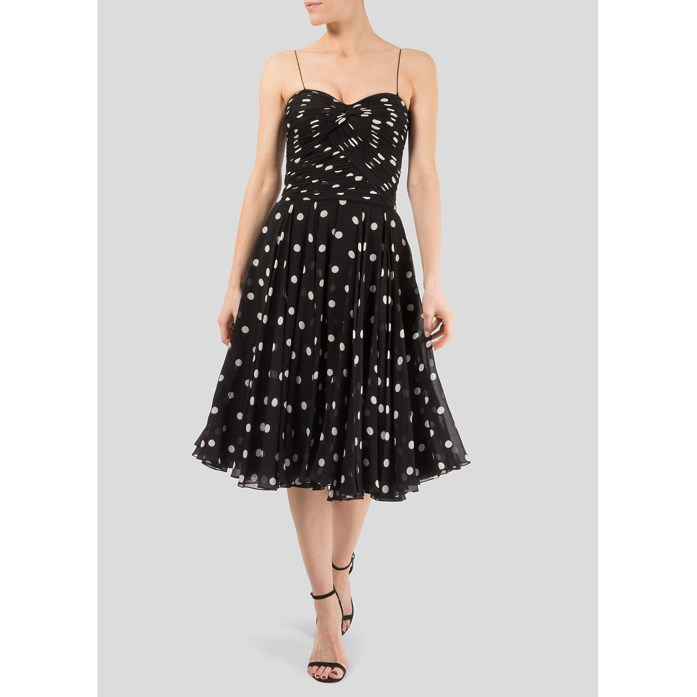 Ralph Lauren Polka Dot Chiffon Dress