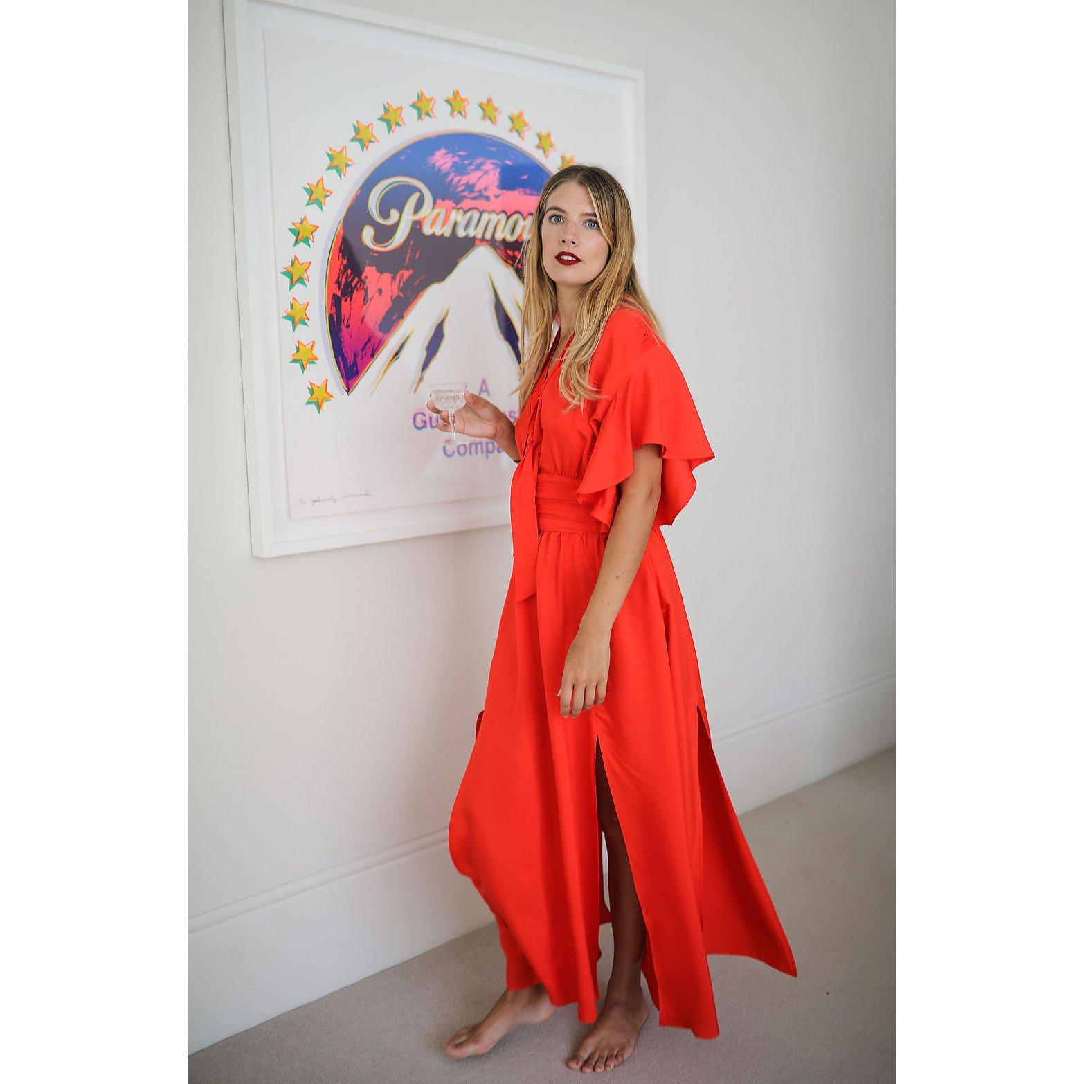 Miranda Dunn Scarlett Flutter Sleeve Dress