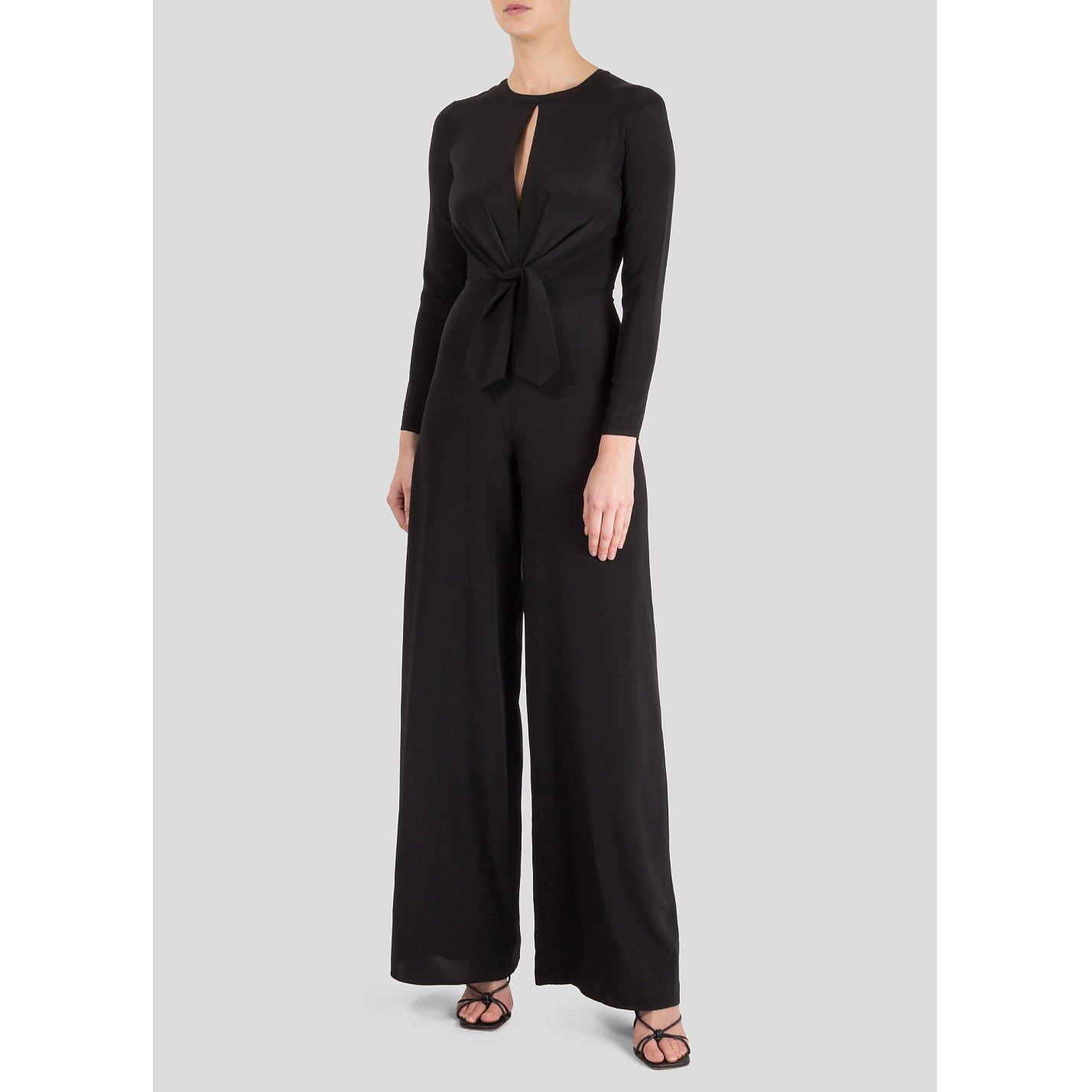 Dhela Wide Leg Jumpsuit With Keyhole Neckline