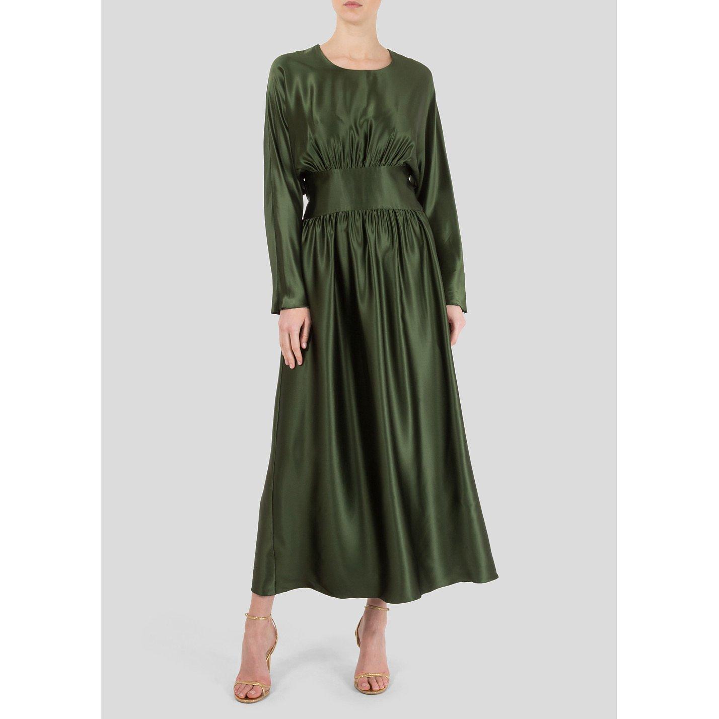 Deitas Hermine Silk-Satin Long Dress
